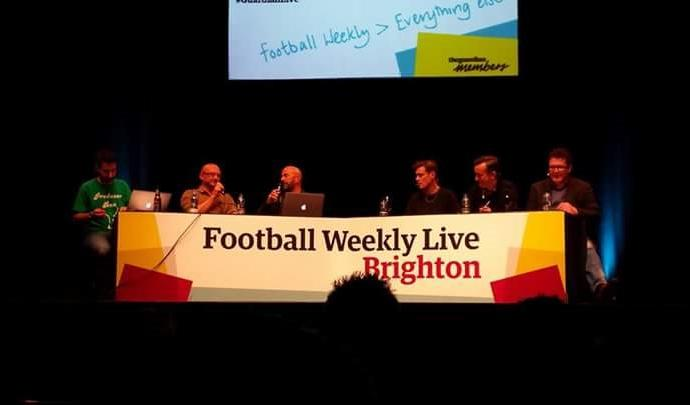 Ady joins the panel on the Guardian's Football Weekly live show at the Dome